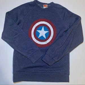 Captain America Shield Marvel Comics Sweater